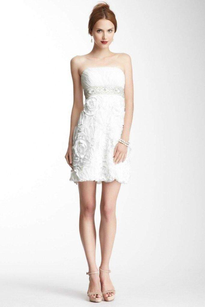 Rosette Texture Short Dress