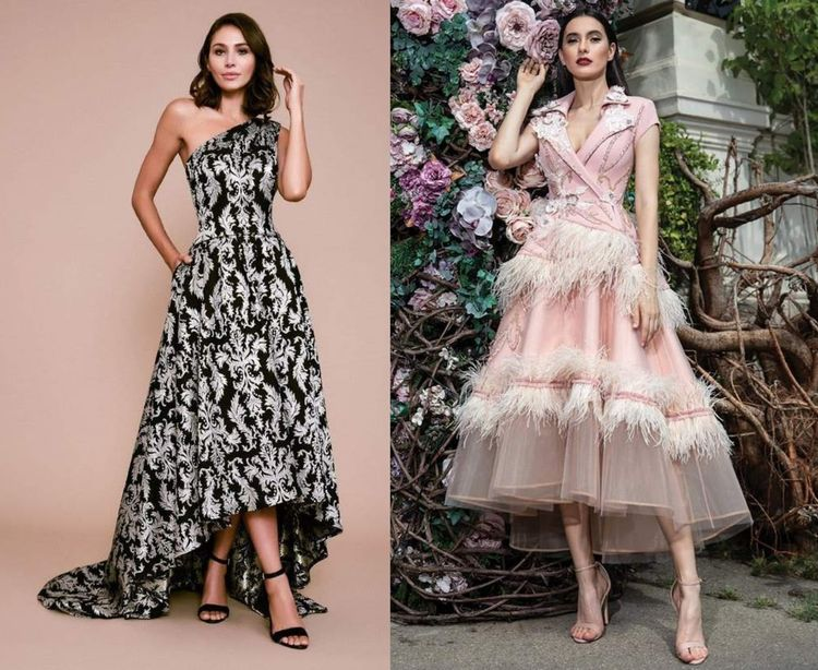 Tea-Length High-Low Dresses