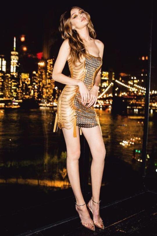 Little golden dress