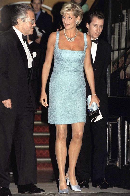 short blue ice dress